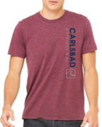 17 Cm Unisex Canvas Heathered Maroon Tee2