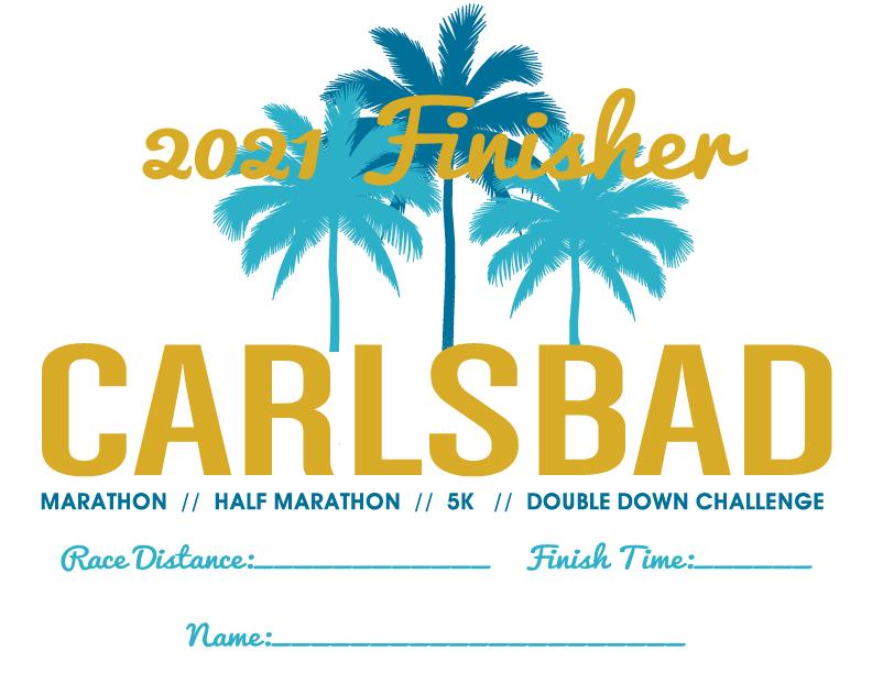 2021 Carlsbad Finishers Cert