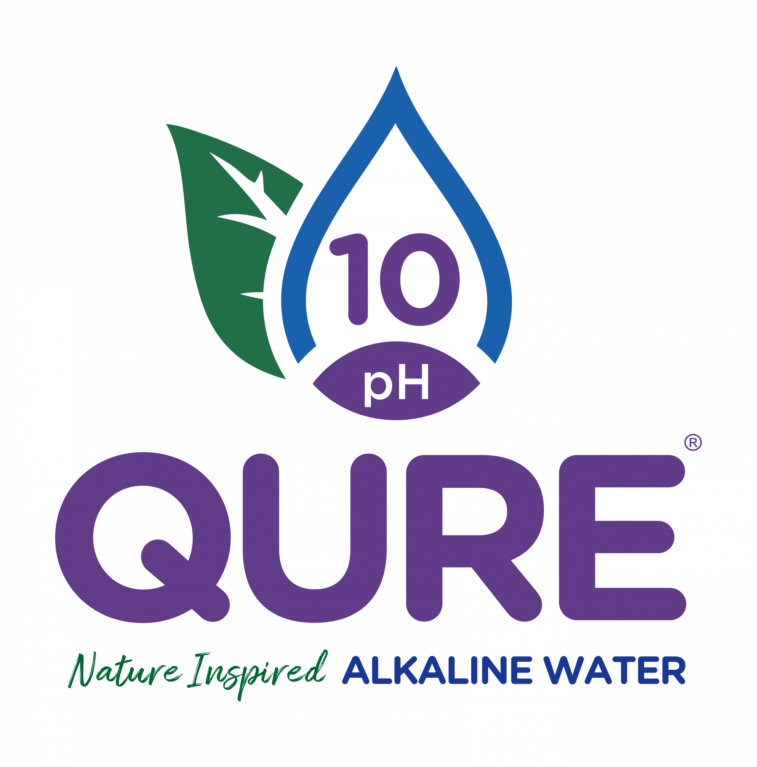 Qure Logo 10 Nature Inspired Vertical