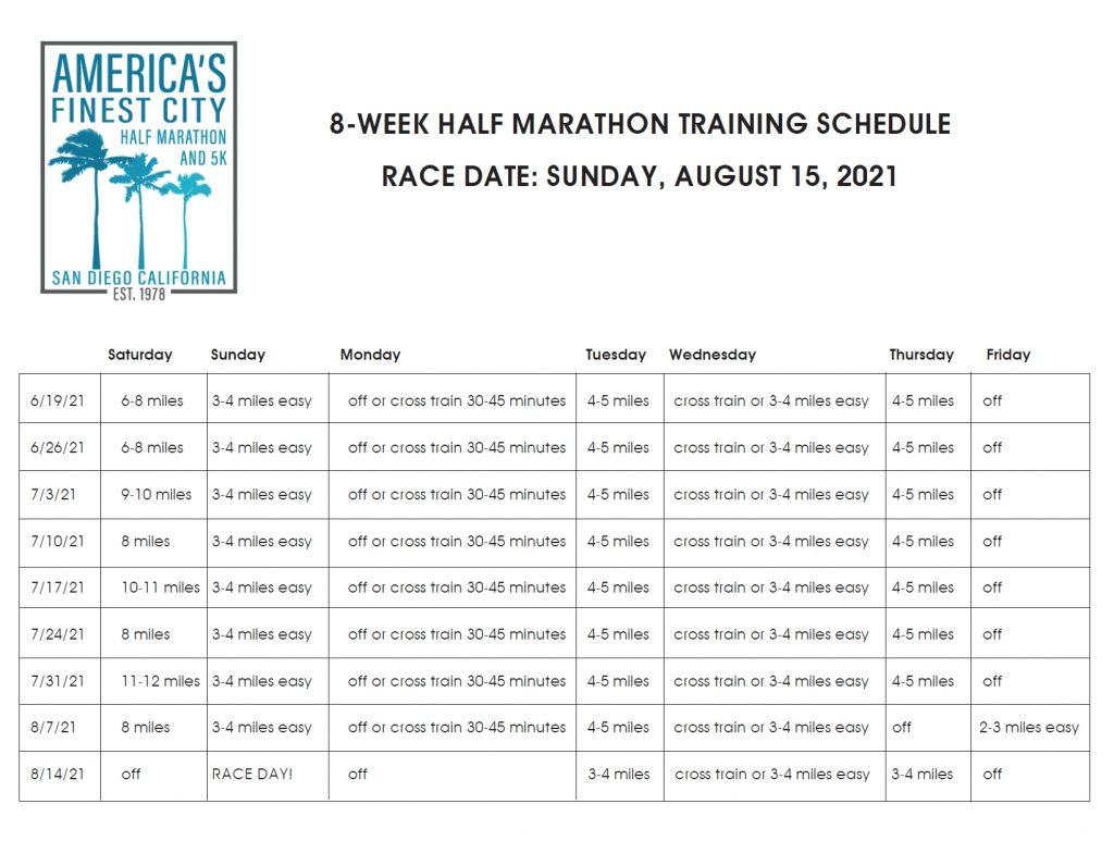 Afc 8 Week Training Schedule